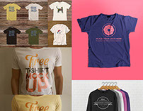 17 Awesome Free PSD T-Shirt Mock-ups