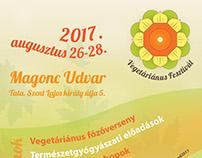 Vegetarian festival logo and flyer / 2017