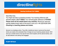 Email design - Directline Flights
