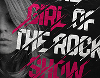 LETTERING - The girl of the rock show