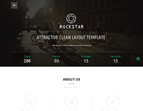 Rockstar- A simple coming soon page