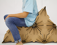 Binary Modular Cardboard Chair