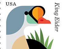 USPS Postage Stamps: Coastal Birds