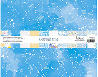 """""""Milky Way"""" - collection of paper for scrapbooking."""