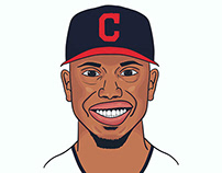 Francisco Lindor Illustration