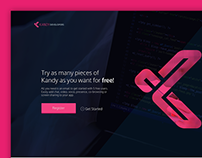 Kandy developers website - Redesign concept