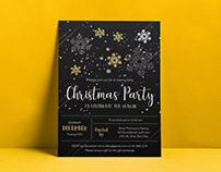 Free Christmas Party Flyer Design Vector Template 2019