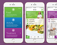 Fit2Me Diabetes Lifestyle App Interface