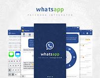 WhatsApp_Facebook Integrated App Re-Design
