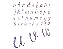 Lace alphabet