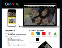 OMNIA Clothing brand Web Design By Agencia Ovni