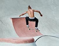 Cool guys having fun in a skate park