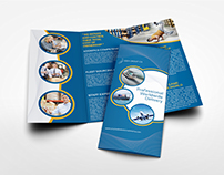 Logistic Services Tri-Fold Brochure Template Vol.3