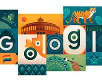 Google Doodle for Indian Independence Day