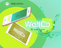 WellCo logo identity