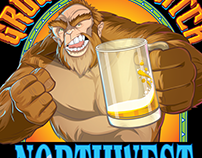 Growlin' Squatch beer label