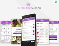 Free PSD : Food Delivery App
