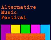 Alternative Music Festival Poster