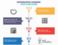 Sample infographic design for Tracxn