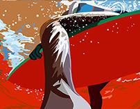 Sun Sand Waves - Illustration