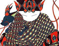 WIP // Dragon Kokeshi // Illustration 2015