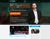 Landing Page Design Concept for Josh Elder