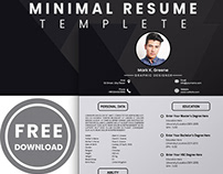 FREE MINIMAL RESUME TEMPLATE DOWNLOAD 2019