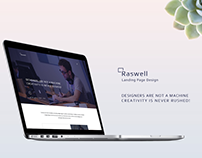 Raswell Landing page WIP