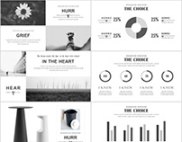 20+ gray simple PowerPoint template