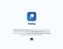 Analog - UX/UI Design - Android Launcher