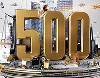 Global 500 // Fortune Magazine // CGI Illustration