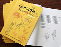 """La Bouffe it's time to eat!"" adult coloring book"