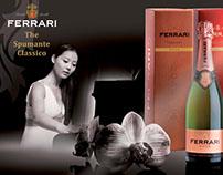 Design of advertising of Ferrari sparkling wine