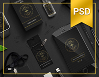 Business Mock-Up PSD / black / Tree / Corporate style