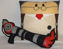Handmade Team Fortress 2 RED Medic v1.43 Plush Pillow