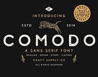Comodo Typeface | Free Font