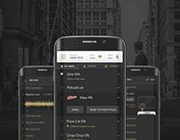 Dark style Android app