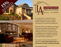 LA Construction Flyer - Graphic Design