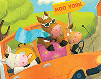 Highlights magazine – Cows in a Car
