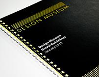 Design Museum Identity - ISTD Student Assessment 2015