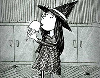 Little Witch Eating Ice Cream