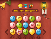 LINE Bubble2 (Alphabet, Bingo Event) - Game UI Design