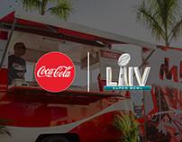 Coca-Cola Food Truck Van for Super Bowl LIV in Miami