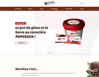 Novichoc Marque fictive de chocolat