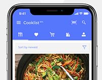 Cooklist Concept