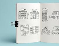 Ink + Digital illustration
