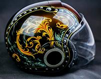 Moto helmet airbrushing