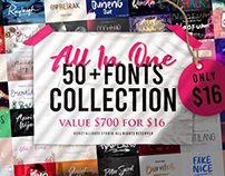 All In One | 50 Fonts Collection
