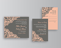 Wedding Invitation Design With Lace Pattren