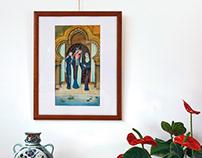 Mother Night - Arabian inspired illustration